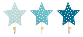 Kapstokhaken ster blauw