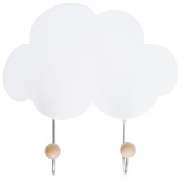 Houten Kapstokhaak wolk
