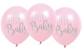 Ballonnen Hello Baby Roze