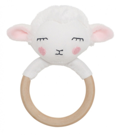 Houten Ring rammelaar schaap