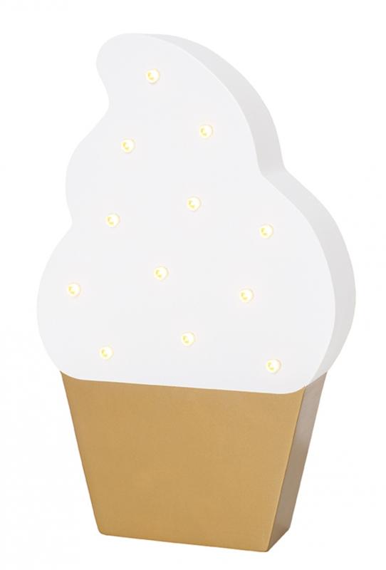 Houten ledlamp IJsje