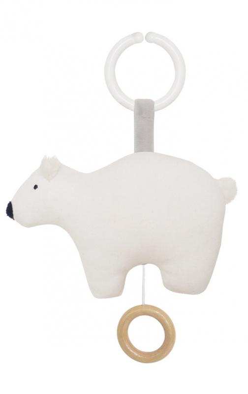 Speelklok ijsbeer wit