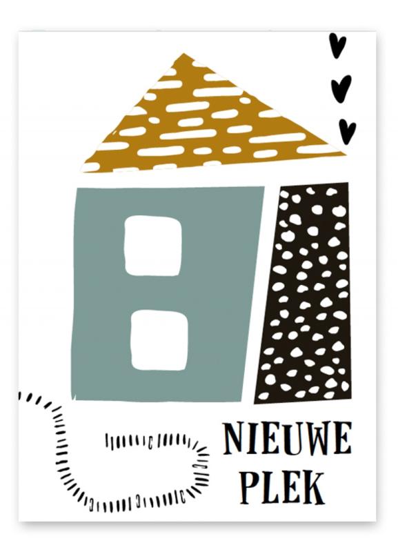 """Wenskaart """"Nieuwe plek"""""""