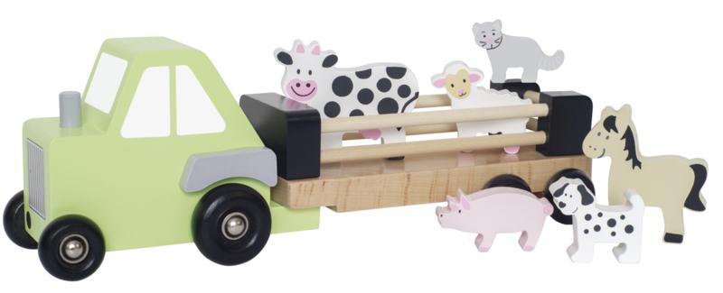 Houten dierentransporter