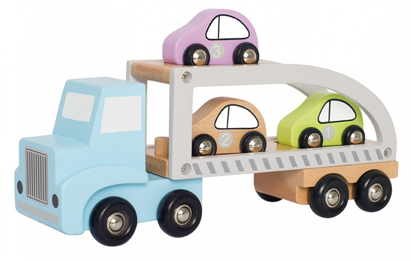 Jabadabado houten transporter met auto's