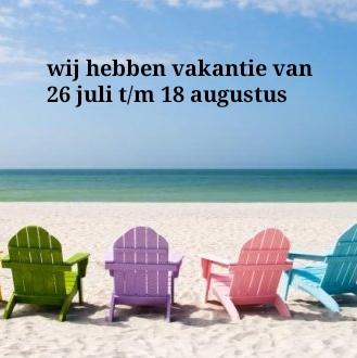 Let op! vakantie
