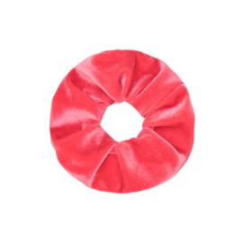 Scrunchie velvet 'koraal'