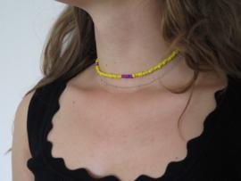 Ketting 'Purple/yellow'