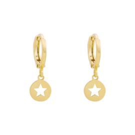 Oorbellen 'Falling star' goud-/zilverkleurig