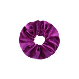 Scrunchie velvet 'paars'
