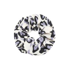Scrunchie Leopard 'grijs'