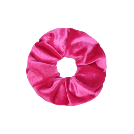 Scrunchie velvet 'fuchsia'.