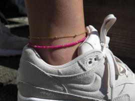 Enkelbandje 'Pink'