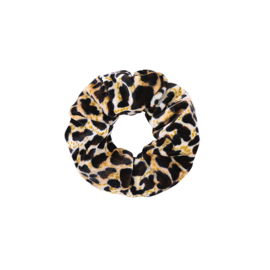 Scrunchie 'Leopard' grijs/bruin