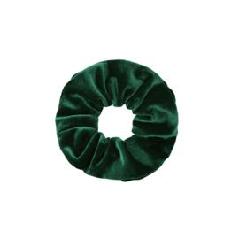 Scrunchie velvet 'groen'.