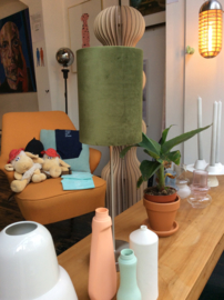 Dressoir lamp velourkap green