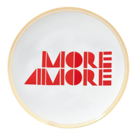 Ontbijtbord 'MORE AMORE'