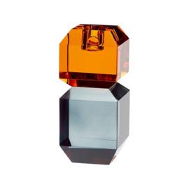 Candlestick, Glass, smoke amber