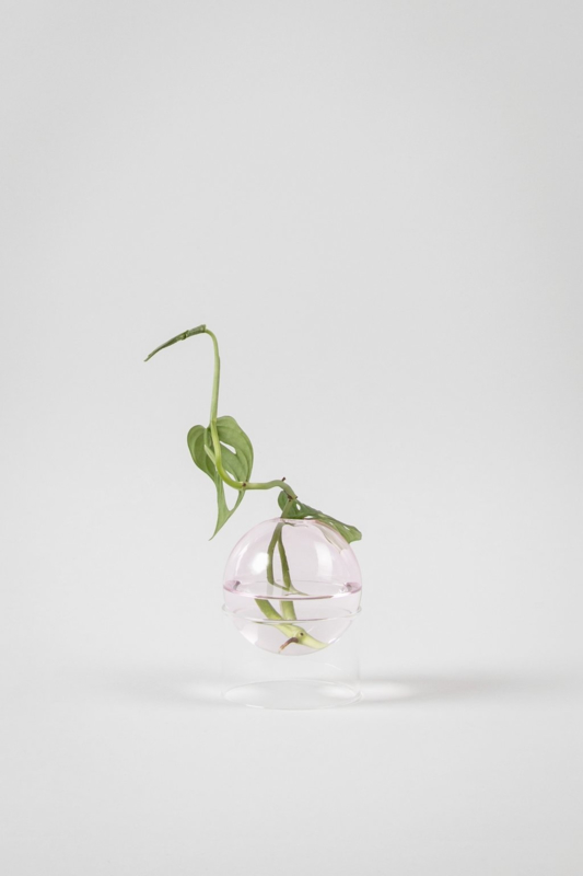 Flower Bubble standing vase pink