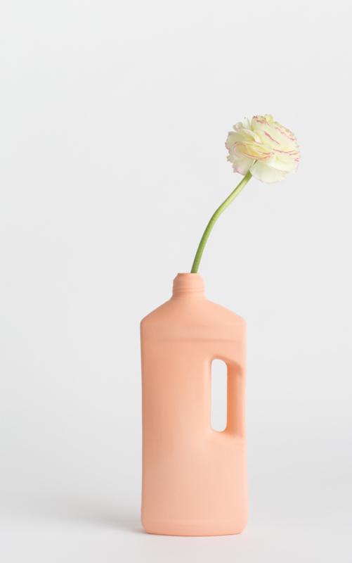 # 3 porcelain vase , pink
