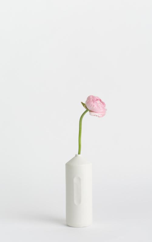# 2 porcelain vase, white