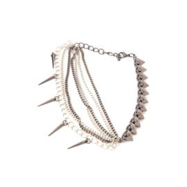 Chains - Spikey Silver (prijs per stuk)