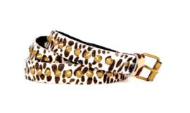 Riemen - The zebra met koperen studs  (prijs per paar)