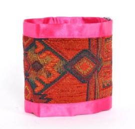 Kelim Ties - Pink Ribbon  (prijs per paar)