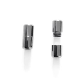Vetercapsule - Zilver + één paar elastische veters
