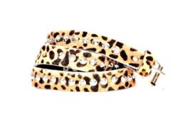 Riemen - The Tiger met zilveren studs  (prijs per paar)