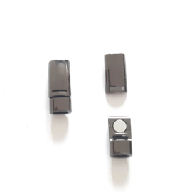 Magnetiche gesp - Zilver + één paar elastische veters