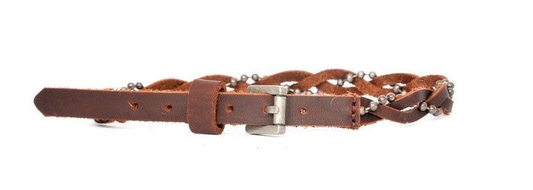 Belts - The Brown Braid  (prijs per paar)