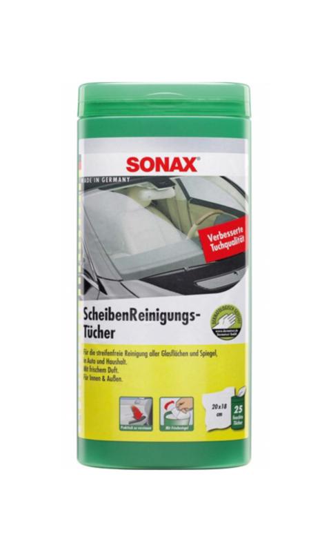 SONAX Ruiten Reinigingsdoekjes 25 stuks