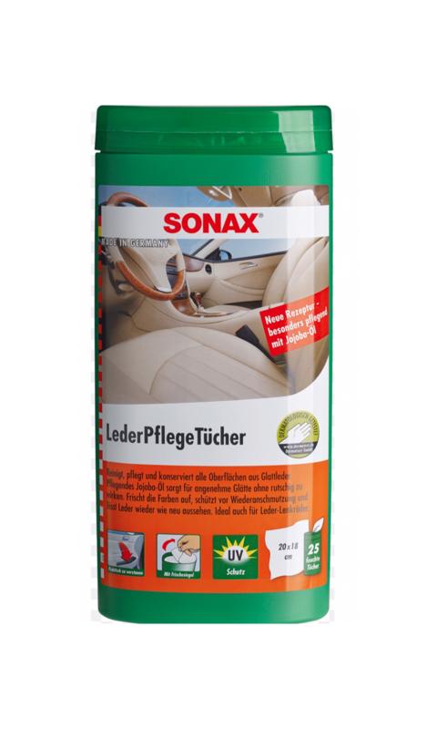 SONAX Leder Onderhoudsdoekjes 25 stuks