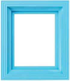 Kunststof lijst lichtblauw
