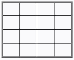 Aluminium lijst 4 x 4