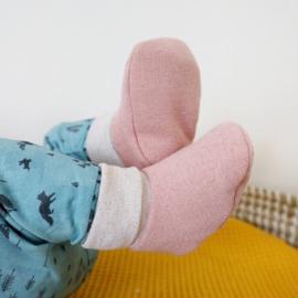 Babyslofjes sokjes Roze Glitters