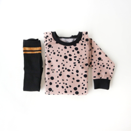 Sweater Dress Dots Rose