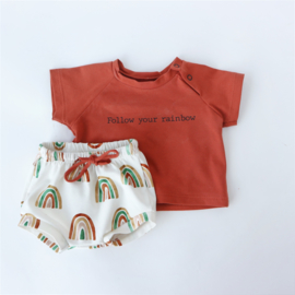 T-Shirt en Bummie short Rainbow