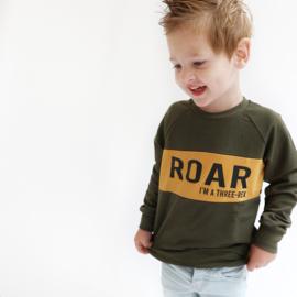 Sweater Roar (of tekst naar keuze)