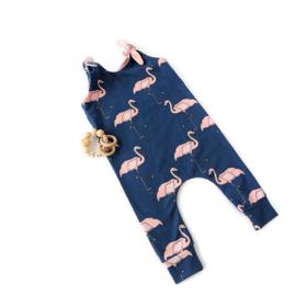 Onesie Knoop Flamingo Blue