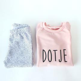 Sweater Dress Pink Dotje (of tekst naar keuze)