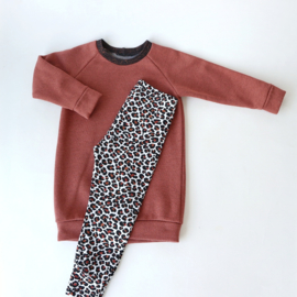 Sweater Dress Glitter Roest