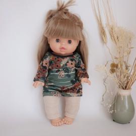 Pop setje Old Green Flowers dress 34 cm
