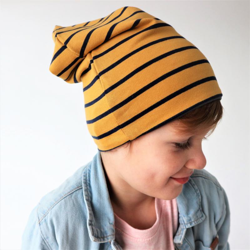 Beanie Yellow Stripes