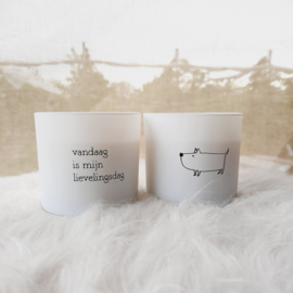 Set kaarsen Hond / Lievelingsdag