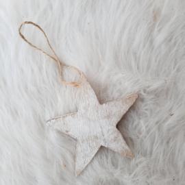 Witte ster hanger 'klein'