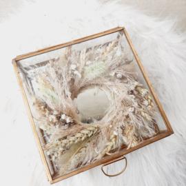 Glazen box papaver
