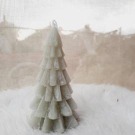 Kerstboom kaars groen