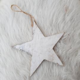 Witte ster hanger 'groot'